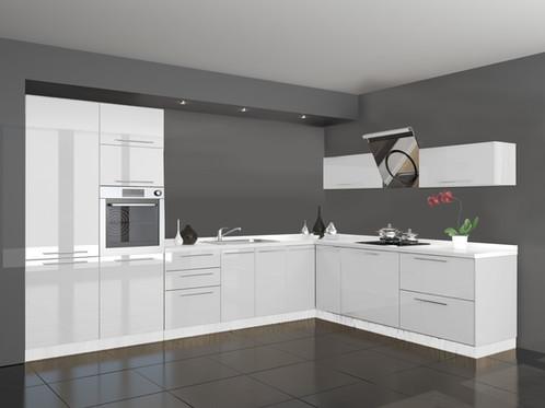 Küche 350 X 180 Cm Hochglanz Ohne Geräte