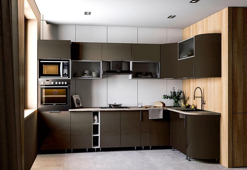 Küche mat Erde ohne Geräte
