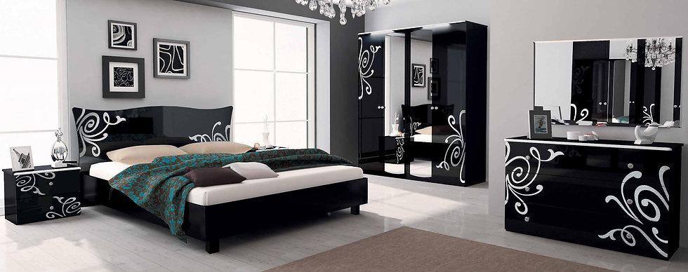 Schlafzimmer Set Bogema Black