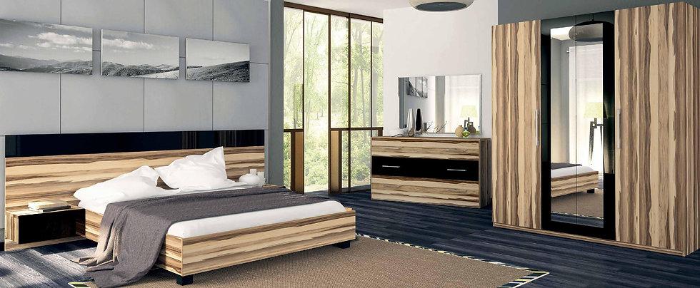 Schlafzimmer Set Sonata Nut-schwarz