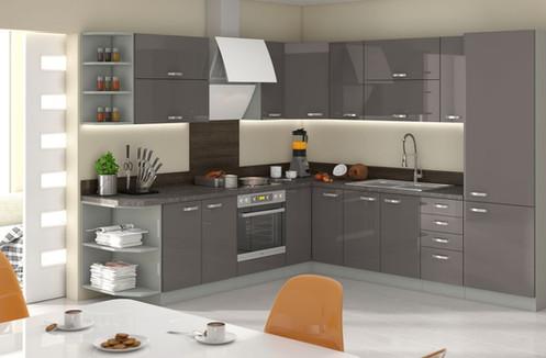 Küche Hochglanz 260 X270 Cm Ohne E Geräten,selbstschließfunktion.