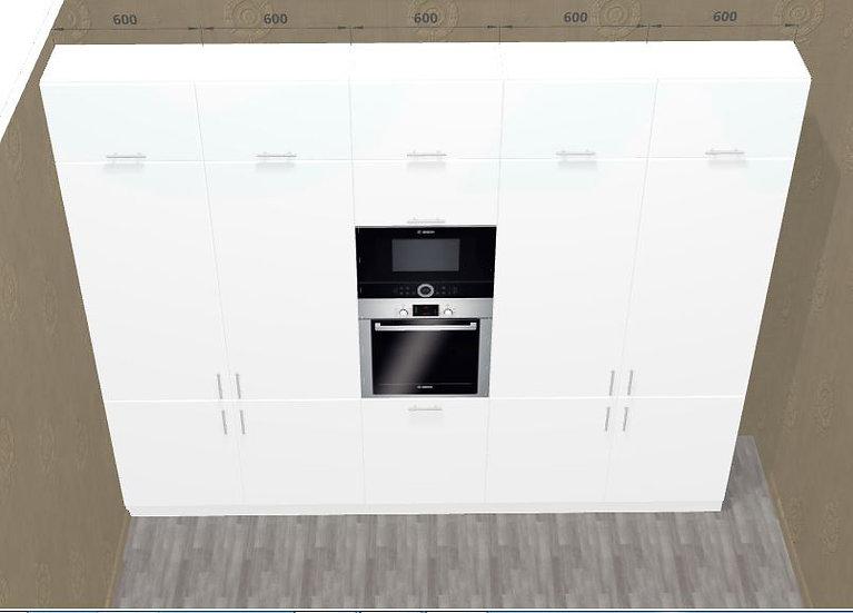 Küche Hochglanz weiß nach Maß ohne Geräten