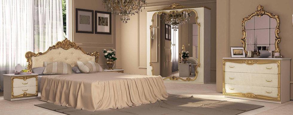 Schlafzimmer Set Victoria Beige-gold