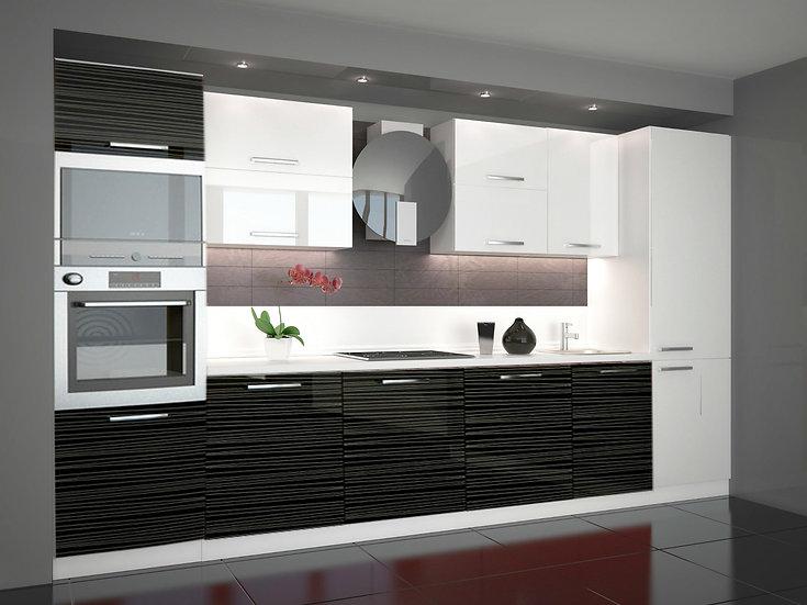 Küche Hochglanz  ohne Geräte