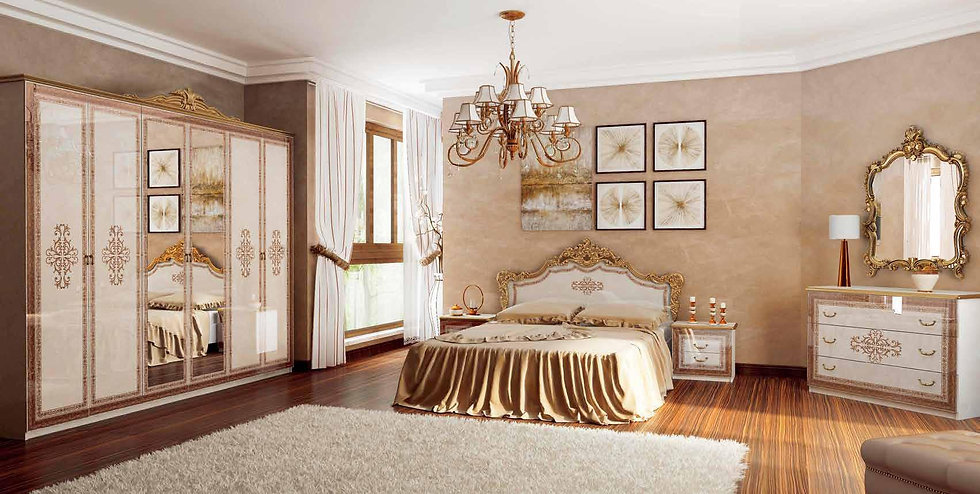 Schlafzimmer Set Jennifer Beige