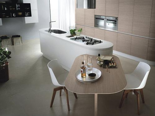 Moderne Küche ohne oder mit Geräte