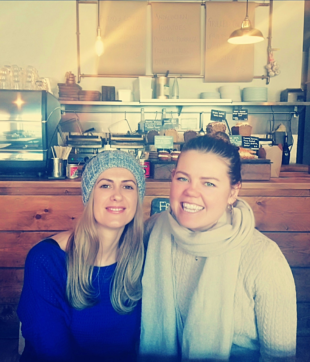 Anita Andor with Beth Edwards friendly catch-up
