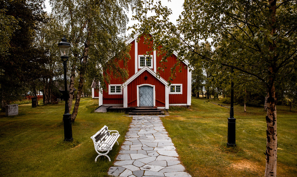 Church outside Kiruna, Sweden