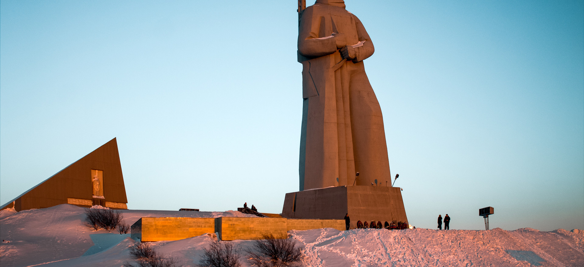 Murmansk protector at sunset, Russia.