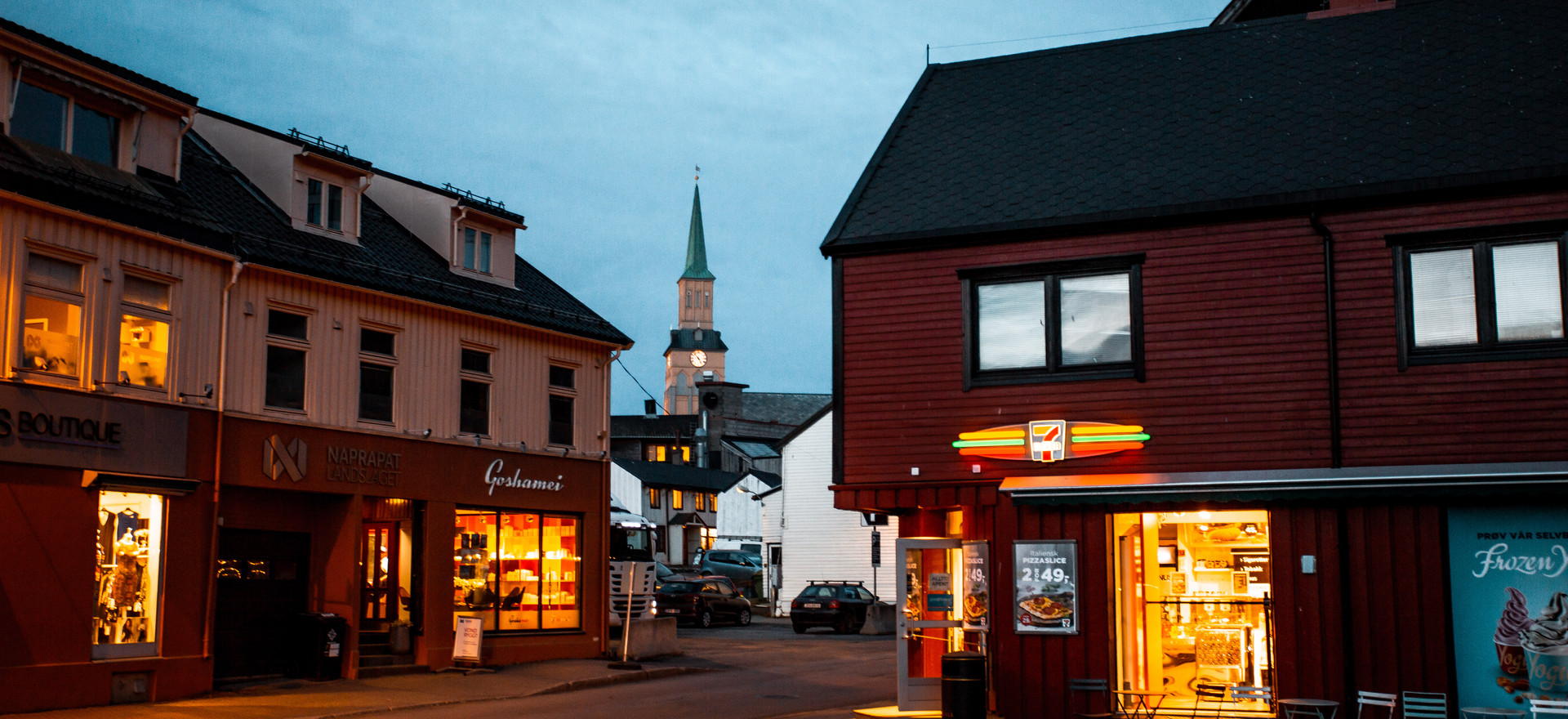 City of Tromso during blue hour