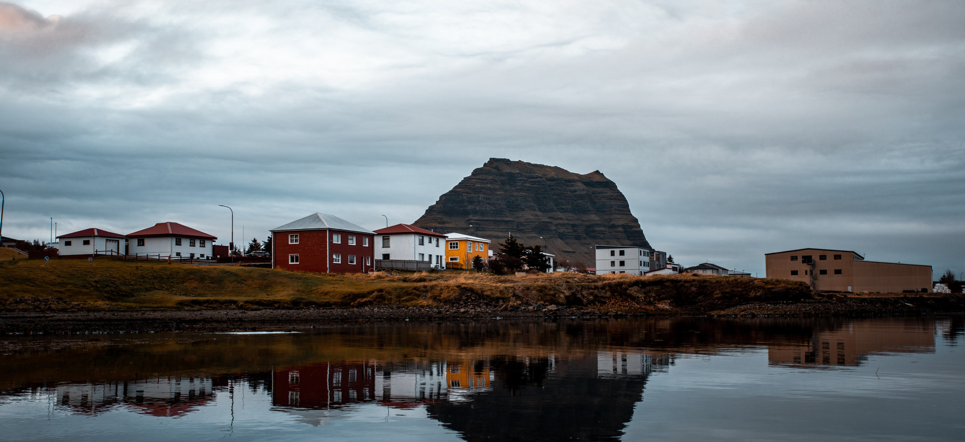 City and nature in Iceland