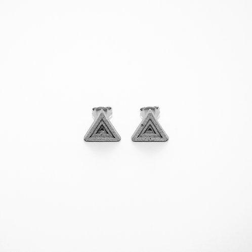 三角形水泥耳環 | 層次系列