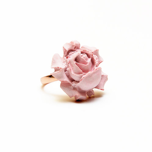 Pink Rose Concrete Ring | Chloris Series