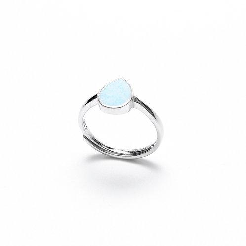 Blue Concrete Drop Ring | Natural Series