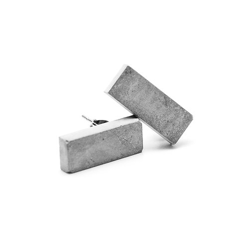 Rectangle Concrete Earring | Classic Series