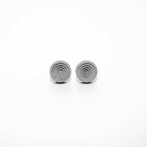 圓形水泥耳環   層次系列
