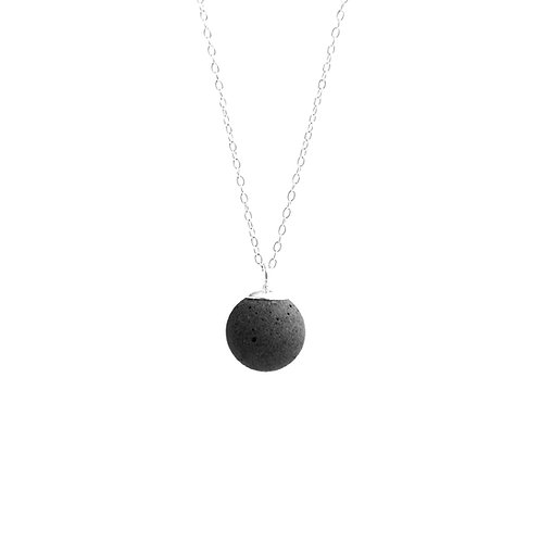 Black Moon Concrete Necklace (Total Lunar Eclipse) | Galaxy Series