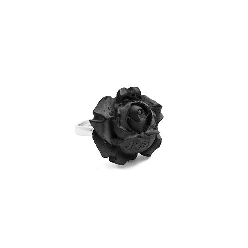 Black Rose Concrete Ring | Chloris Series