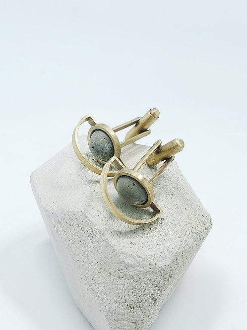 黃銅水泥袖扣 C3CraftStudio x Agaric Garden 月球之旅