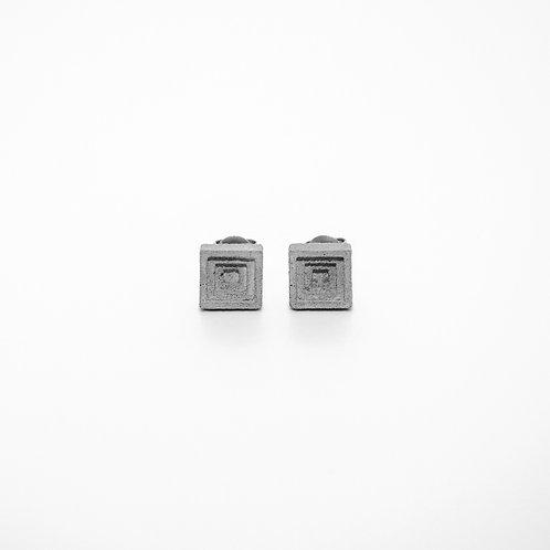 方形水泥耳環 (小) | 層次系列