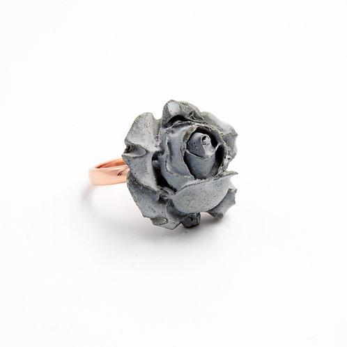Grey Rose Concrete Ring   Chloris Series