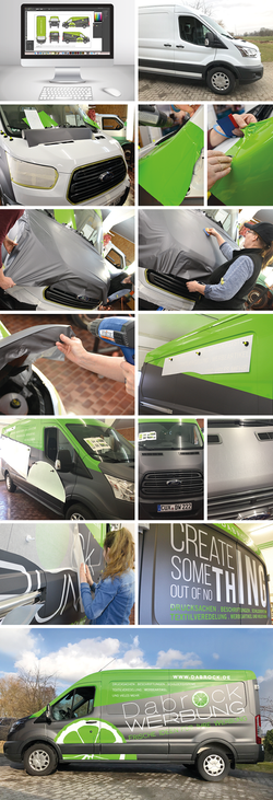 Entstehung Carwrapping // Fahrzeughalle Dabrock