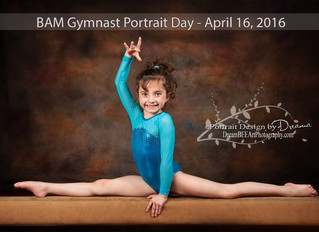 Gymnastics Sport Portraits slated at BAM in Gallatin, TN - April 16th