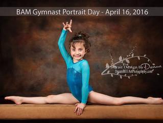 Gymnastics Sport Portraits slated at BAM in Gallatin, TN - April 16th