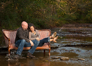 Fall Family Creek Engagement