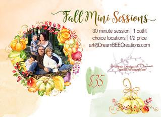 Fall Mini's Now Booking