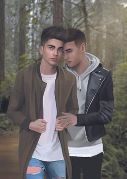 Escena Adonis y Valentin