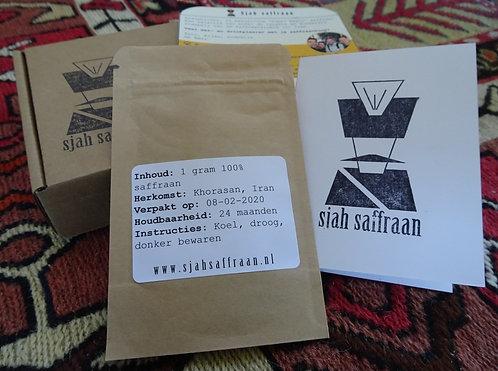 1 gram Iraanse saffraan in cadeau verpakking