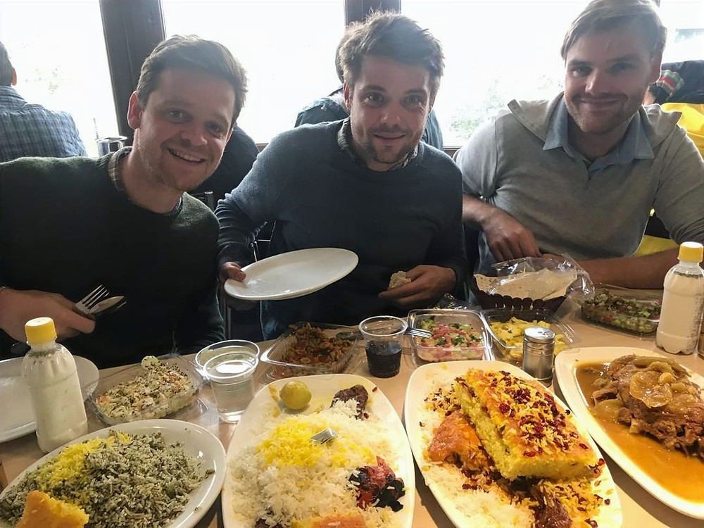 Saffraan lunch in Teheran