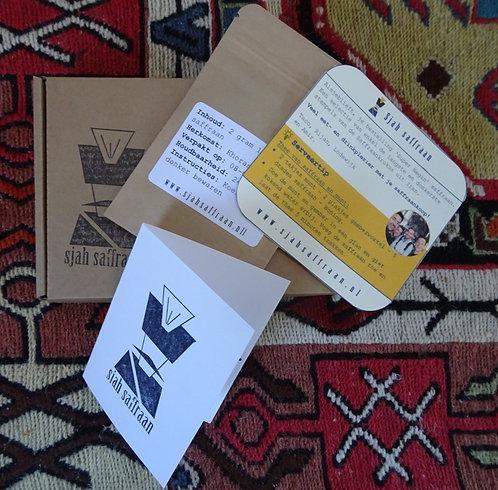 2 gram Iraanse saffraan in cadeau verpakking