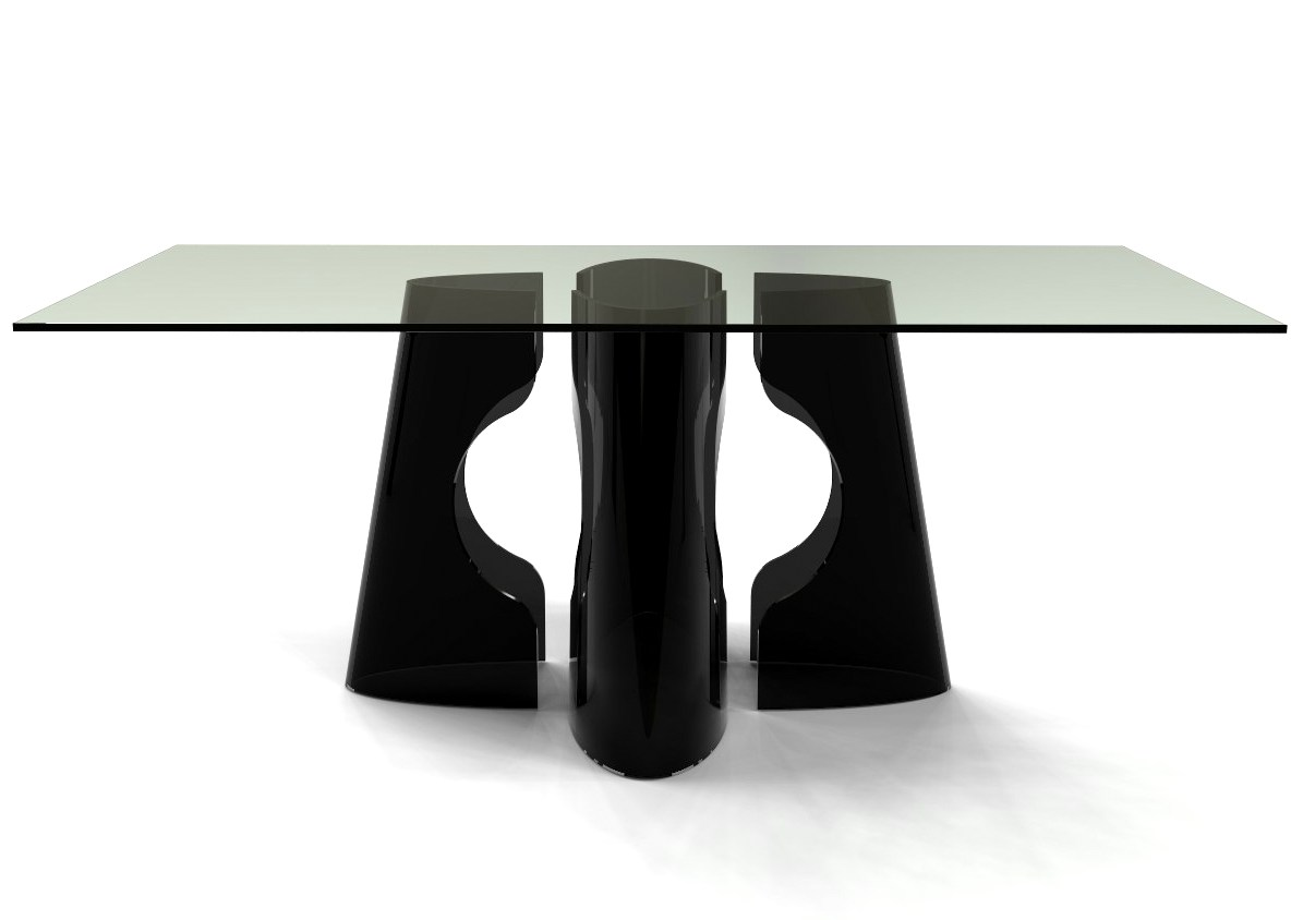 VOID Glass Dining Table Base