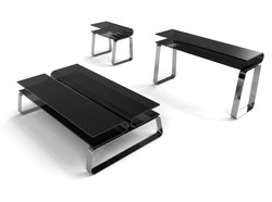 Volare Glass Table Collection