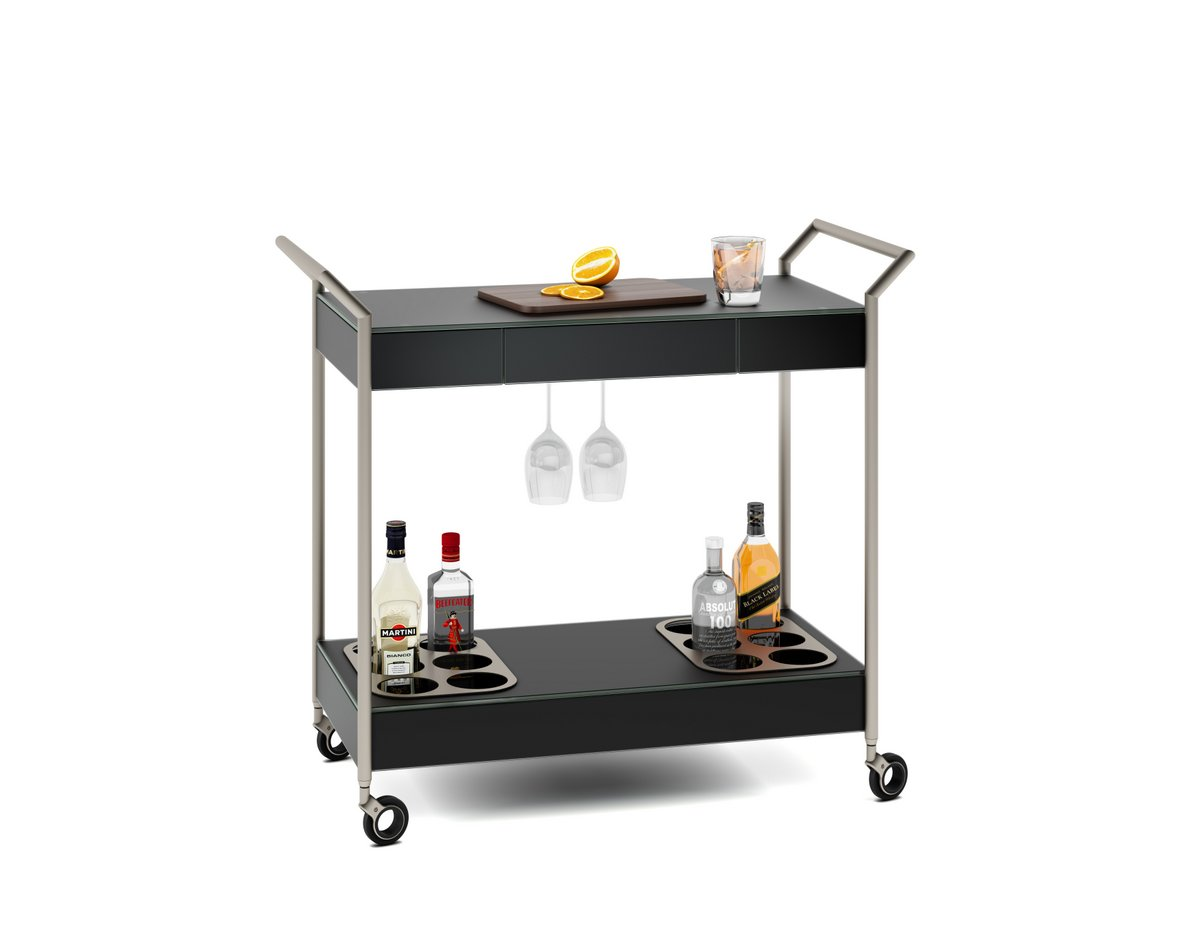 Verra Glass Bar Cart