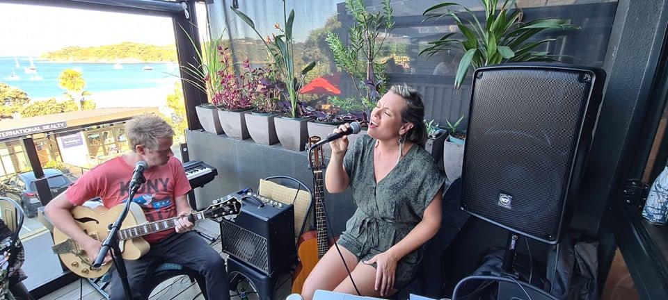 AJ Brooks & Malcolm Performing at Aperitivo Waiheke Island