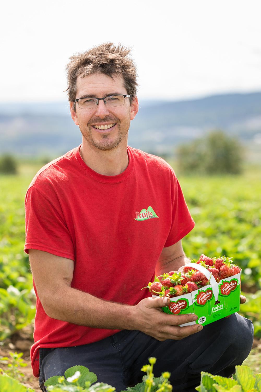 présentation panier fraises