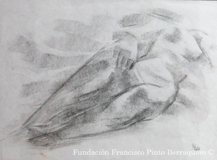 Boceto de desnudo tumbado