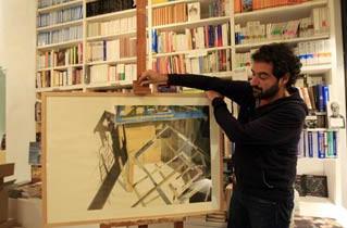 'Lectura', del fallecido artista jerezano Francisco Pinto Berraquero en la librería 'El