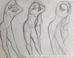 Boceto de desnudo en evolución