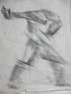 Bocetos de cuerpos en movimiento