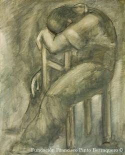 Hombre descansando en silla