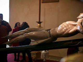 Restauración del Cristo del Perdón.