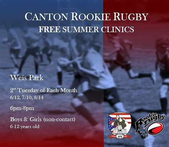 2018 Rookie Rugby Flyer- Summer Clinics.