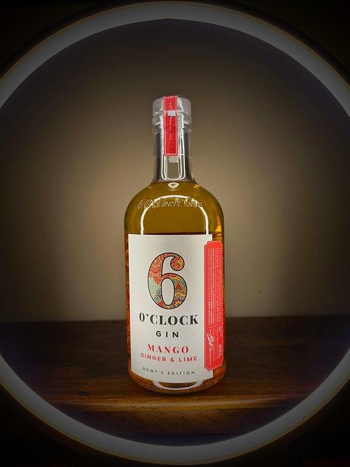 6 O'Clock Mango, Ginger & Lime Gin, England