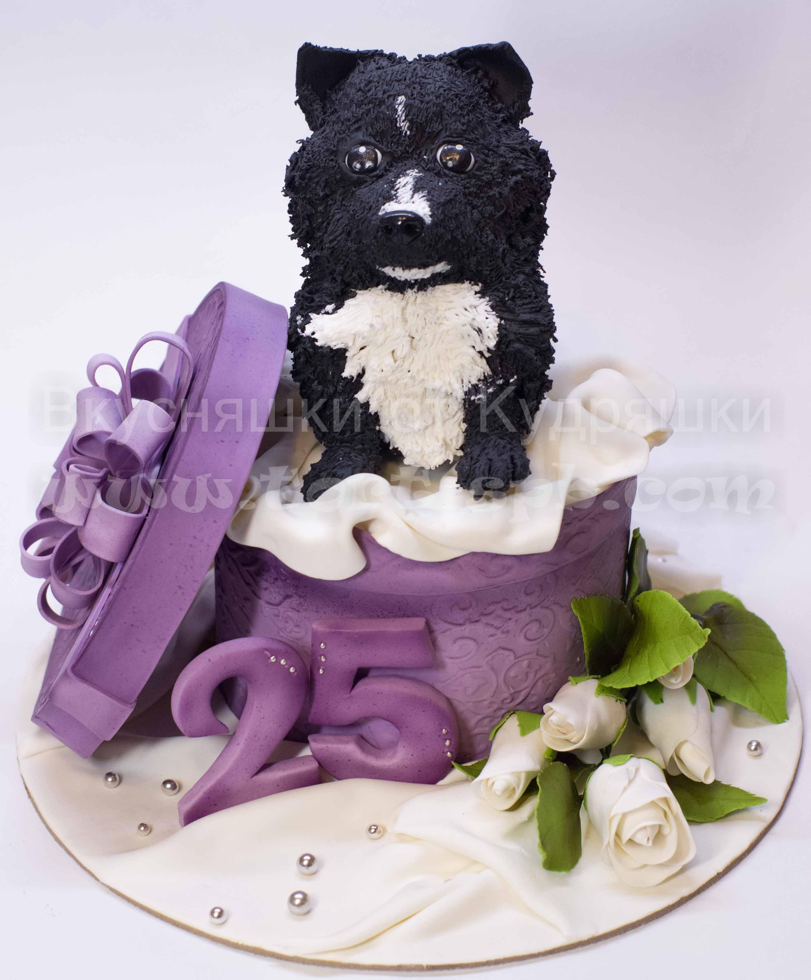 Торт с собачкой