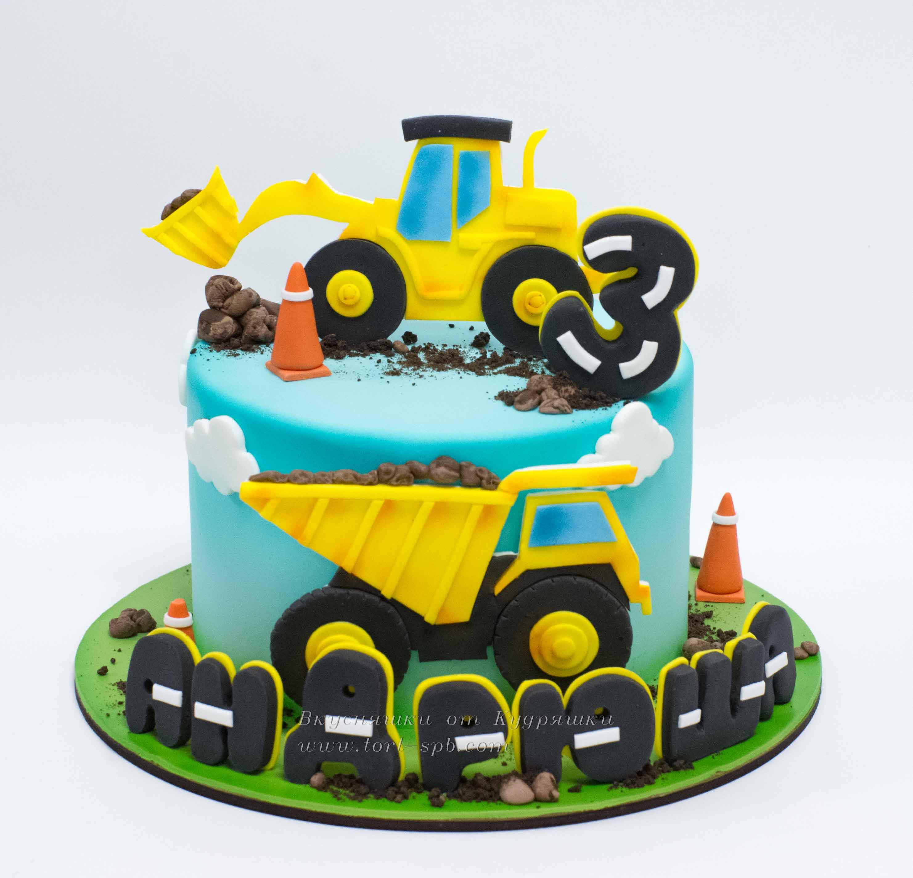 торт с машинками