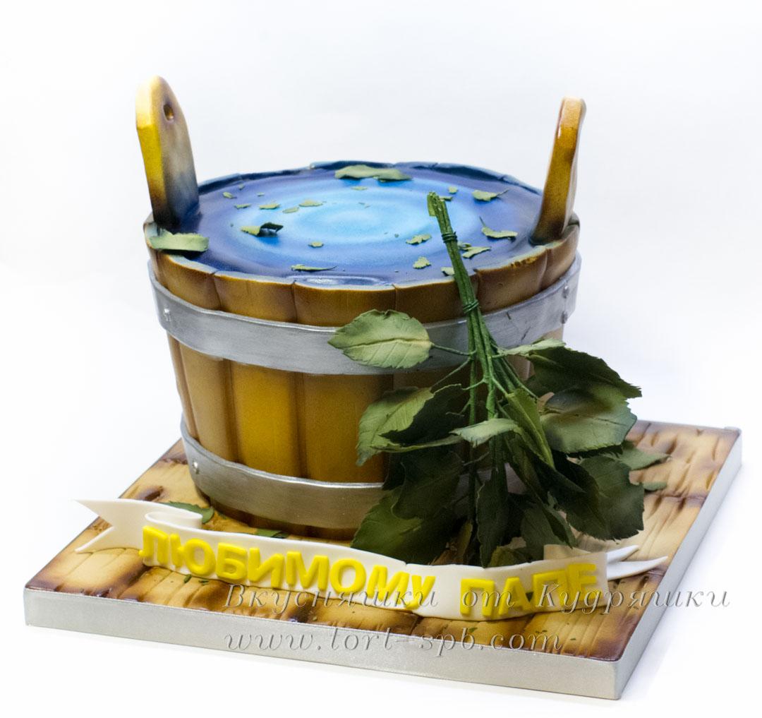 Торт банная кадка